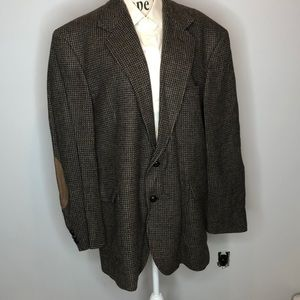 Pendleton Brown Plaid Jacket with Arm Patches